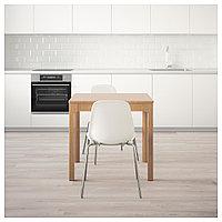 ЭКЕДАЛЕН / ЛЕЙФ-АРНЕ Стол и 2 стула, дуб, белый, 80/120 см, фото 1