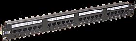 ITK 1U патч-панель кат.6 UTP, 24 порта (IDC Dual)