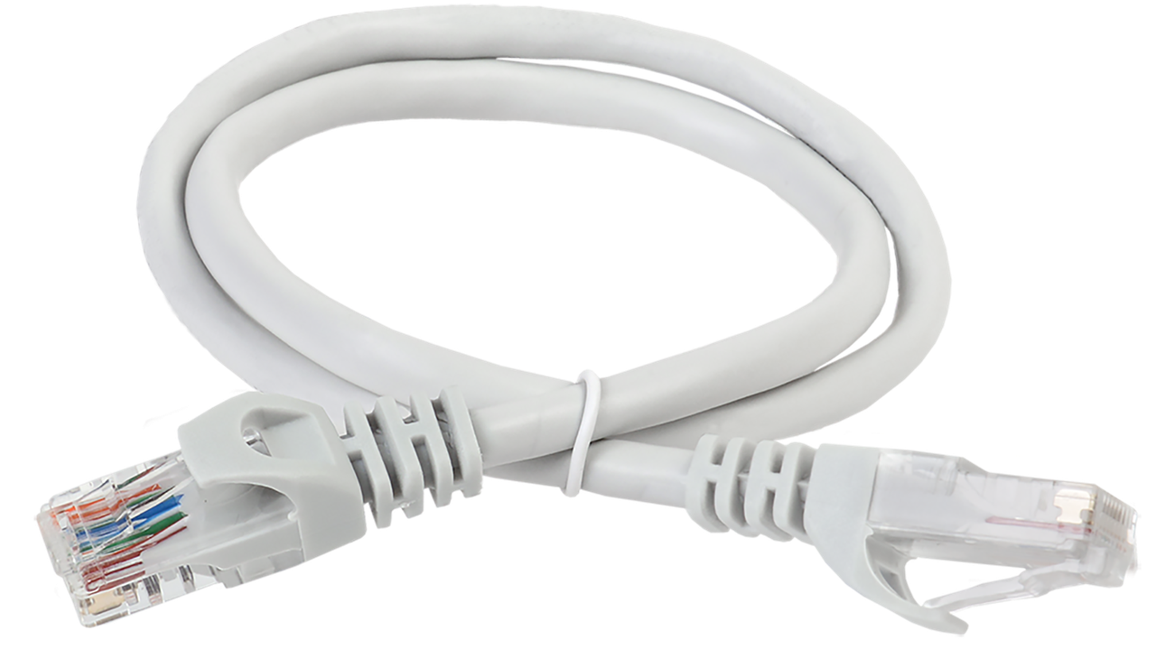 ITK Коммутационный шнур (патч-корд), кат.5Е UTP, 0,5м, серый