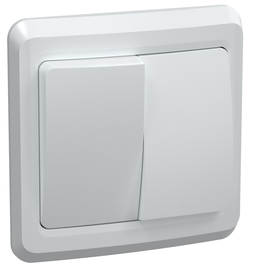 Выключатель ВС 10-2-0-ВБ двухкл.10А с инд. ВЕГА (белый) ИЭК