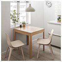 ЭКЕДАЛЕН / ОДГЕР Стол и 2 стула, дуб, белый бежевый, 80/120 см, фото 1