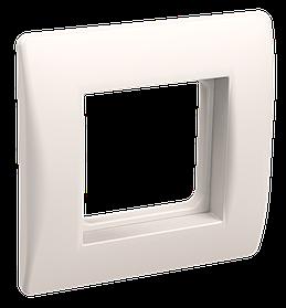 Рамка и суппорт для коробок КМКУ на 2 модуля белые ИЭК