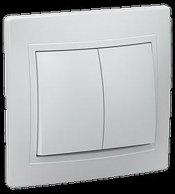 Выключатель ВС 10-2-0-КБ двухкл.10А КВАРТА (белый) ИЭК
