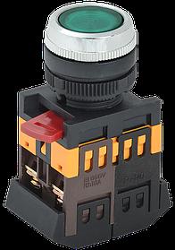 Кнопка ABLFS-22 зеленый d22мм неон/240В (ИЭК)
