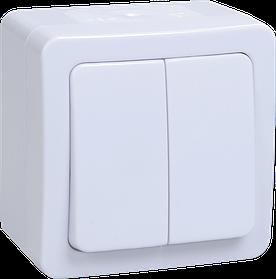 Выключатель ВС 20-2-0-ГПБ двухкл. о/у IP54 ГЕРМЕС PLUS (белый) ИЭК