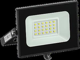 Прожектор СДО 06-20 светодиодный черный IP65 6500 K ИЭК