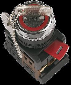 Кнопка  AKS-22 черный с ключом на 2 фикс.положения I-O(ИЭК)