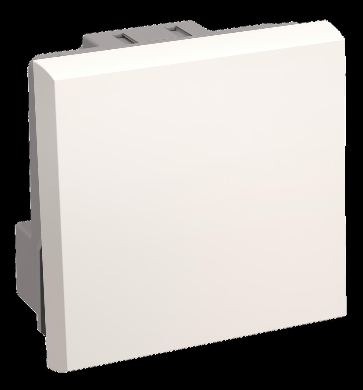 Выключатель одноклавишный на 2 модуля. ВКО-21-00-П ИЭК