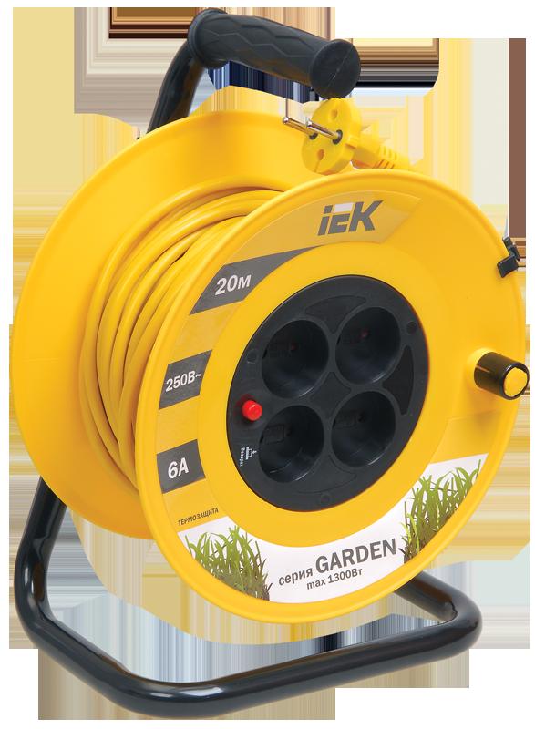 """Удлинитель УК-20 с термозащ. 4места 2Р 20м 2*0,75мм2 """"Garden"""" (ИЭК)"""