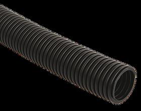 Труба гофр.ПНД d32 с зондом (25м) ИЭК черный
