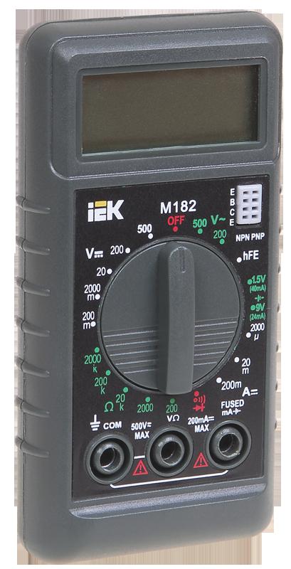 Мультиметр цифровой Compact M182 ИЭК