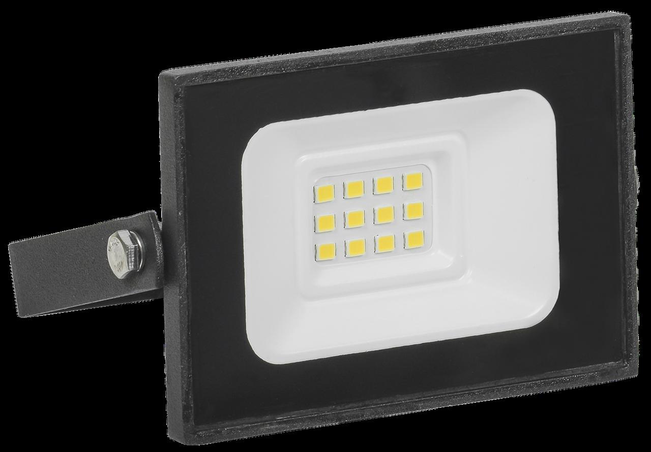 Прожектор СДО 06-10 светодиодный черный IP65 6500 K ИЭК