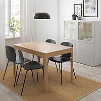 ЭКЕДАЛЕН / СВЕН-БЕРТИЛЬ Стол и 4 стула, дуб, черный, 120/180 см, фото 1
