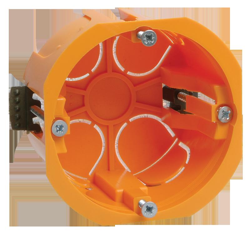Коробка КМ40022 установочная d65х45мм для полых стен (с саморезами и пластиковыми лапками) ИЭК