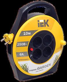 """Удлинитель УК-10 с термозащ. 4места 2Р 10м 2*0,75мм2 """"Garden"""" (ИЭК)"""