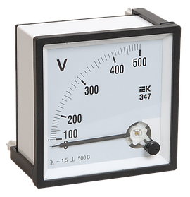 Вольтметр Э47 600В кл. точн. 1,5 72х72мм (ИЭК)