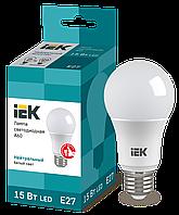 Лампа светодиодная ECO A60 шар 15Вт 230В 4000К E27 ИЭК