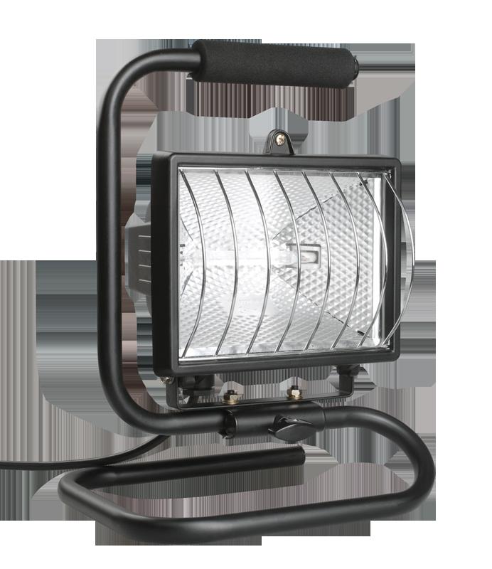 Прожектор ИО-500П переноска черный (ИЭК)