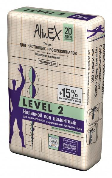 Наливной пол для окончательного выравнивания AlinEX Level 2