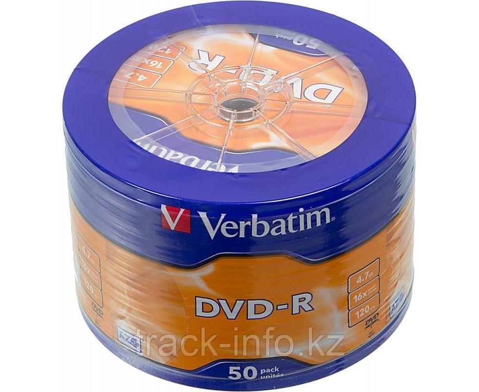 Диски DVD+R Verbatim 4.7gb 16x cake box (50)
