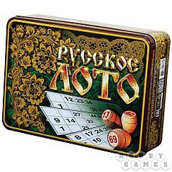Настольная игра: Лото Русское Русские узоры (жестяная коробка)