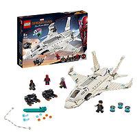 LEGO Super Heroes 76130 Конструктор ЛЕГО Супер Герои Реактивный самолёт Старка и атака дрона
