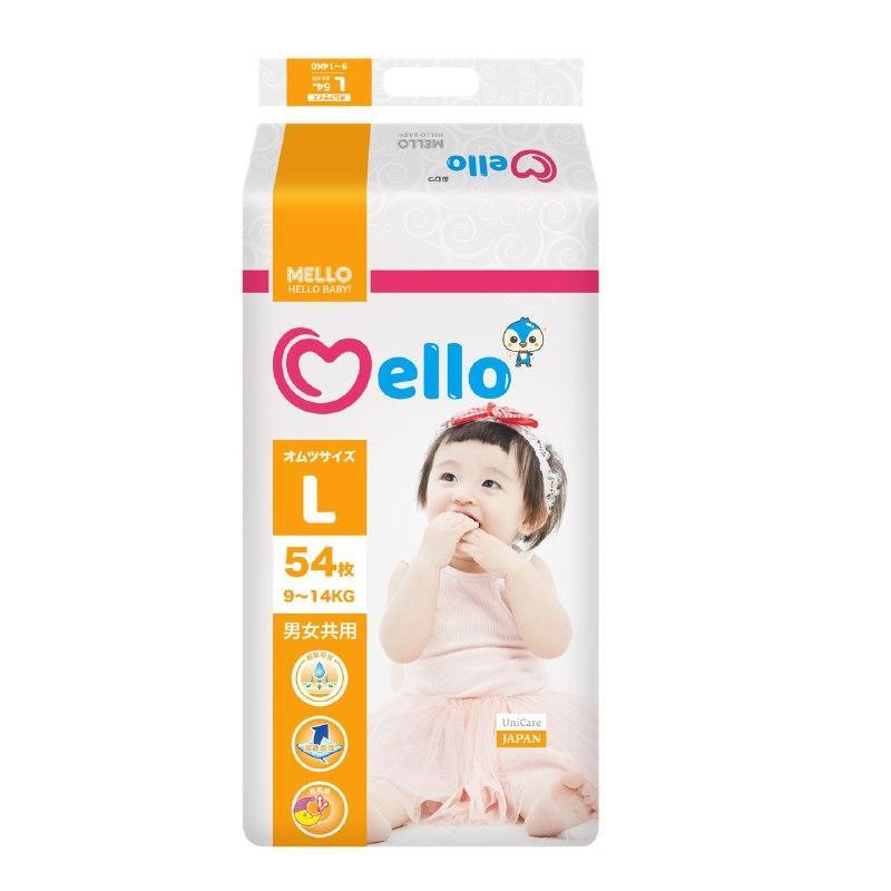 Подгузники Mello L ( 9-14 кг) 54 штуки