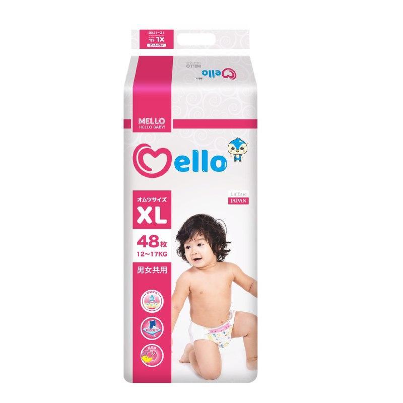 Подгузники Mello XL (12-17 кг) 48 штук