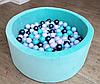 Сухой бассейн Счастья круг Мята с шариками