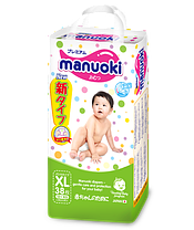 Трусики Manuoki XL (12+кг) 38 штук