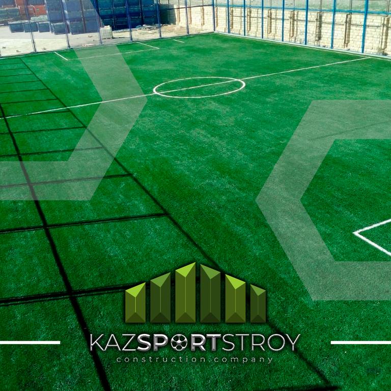Строительство футбольного поля с нуля открытого типа в городе Актау. Форд-шевченко