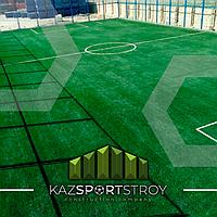 Строительство футбольного поля с нуля открытого типа в городе Актау. Форд-шевченко 10