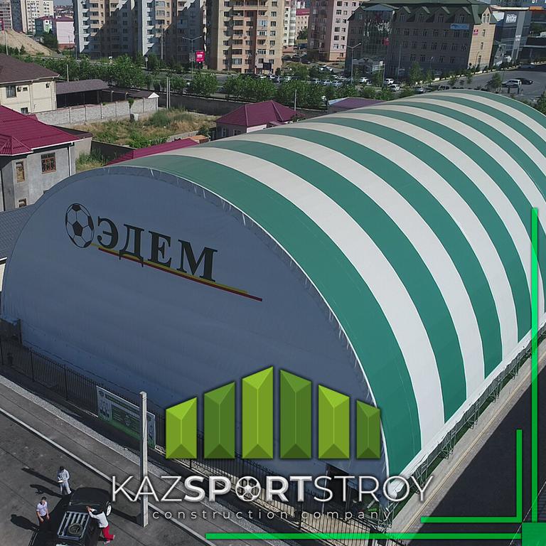 Строительство крытого футбольного поля в городе Шымкент в районе Нурсат. Стоимость 22 млн. тг с ГАРАНТИЕЙ 5 лет.