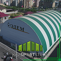 Строительство крытого футбольного поля в городе Шымкент в районе Нурсат. Стоимость 22 млн. тг с ГАРАНТИЕЙ 5 лет. 1