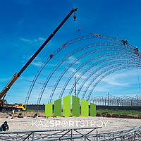 Строительство футбольного поля закрытого типа в городе Шымкент 1