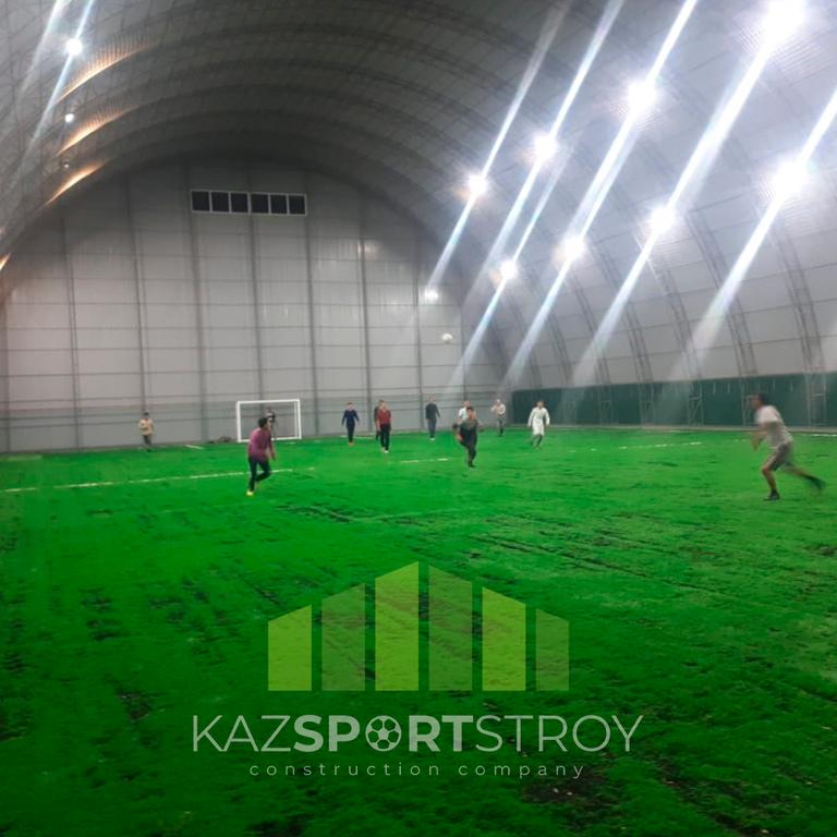 Строительство футбольного поля закрытого типа в городе Шымкент