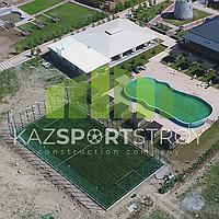 Строительство футбольного поля открытого типа. Сайрам-Су 4