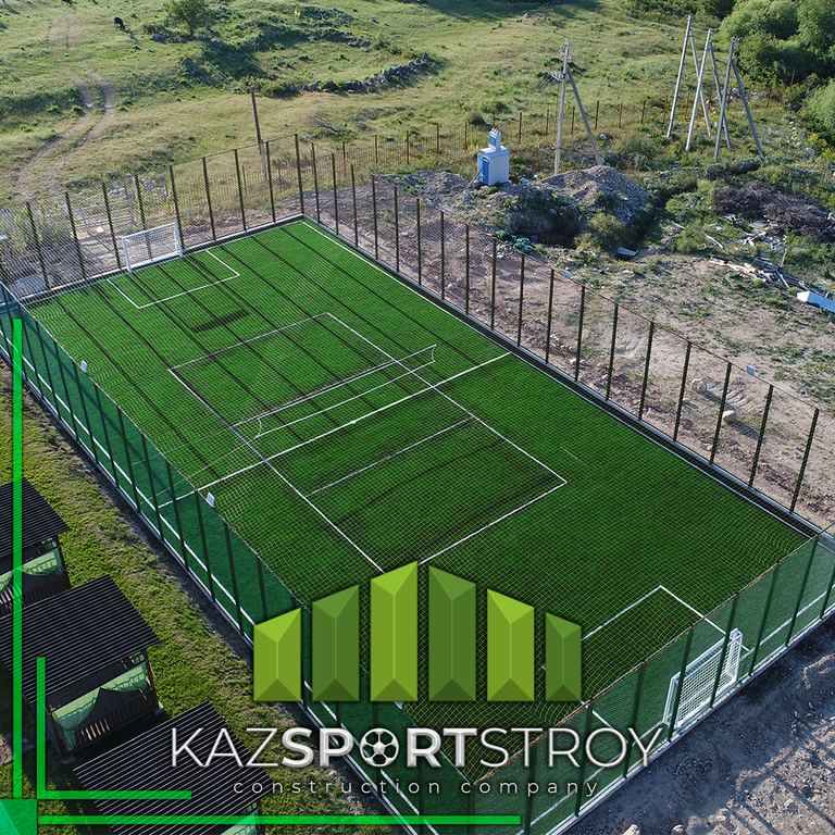 Строительство футбольного поля открытого типа. Сайрам-Су