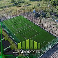 Строительство футбольного поля открытого типа. Сайрам-Су 7