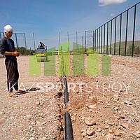 Строительство футбольного поля открытого типа. Сайрам-Су 9