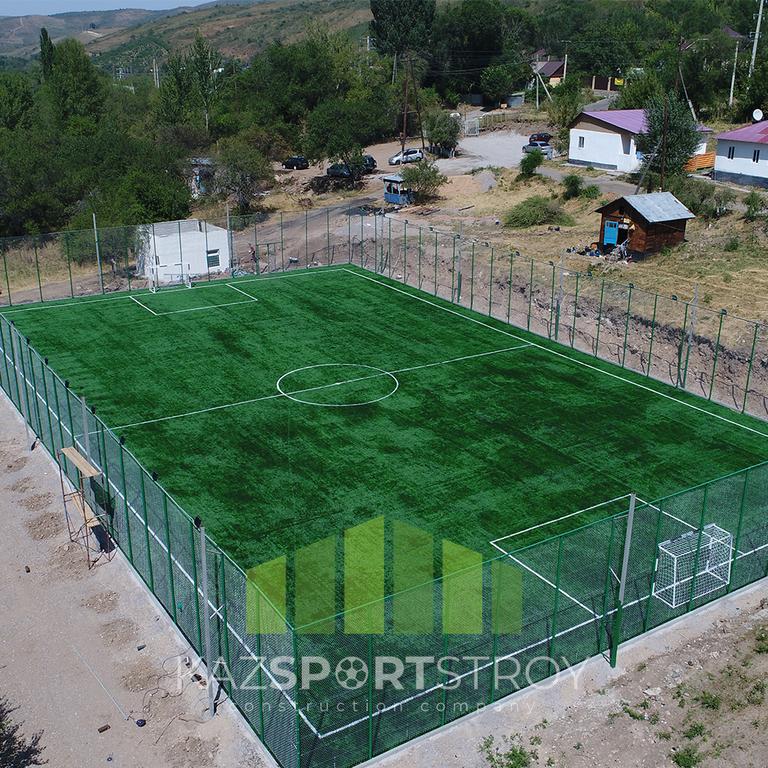 Строительство футбольного поля открытого типа. Алматинская область, Иссык