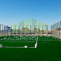 Строительство футбольного поля открытого типа. Тенгиз 4