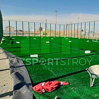 Строительство футбольного поля открытого типа. Тенгиз 1