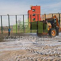 Строительство футбольного поля открытого типа. Тенгиз 3