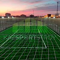 Строительство футбольного поля открытого типа. Тенгиз 7