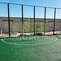 Строительство футбольного поля открытого типа. Тенгиз 5