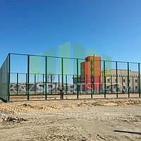 Строительство футбольного поля открытого типа. Тенгиз 6