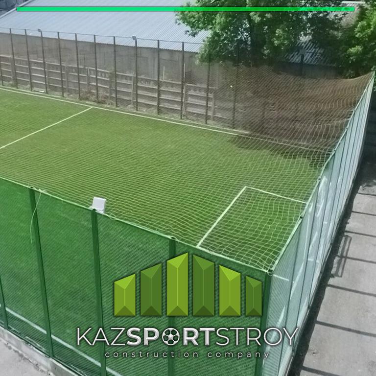 Строительство футбольного поля открытого типа. Алматы