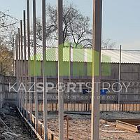 Строительство футбольного поля открытого типа. Алматы 8