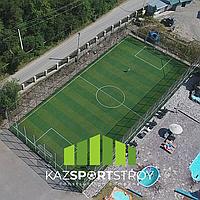 Строительство футбольного поля открытого типа. Зона отдыха 1